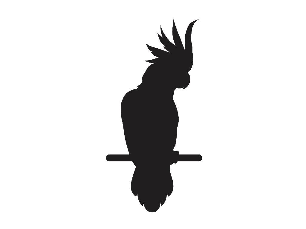 Cockatoo sticker.