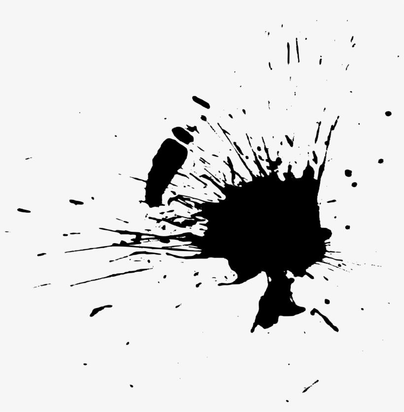 Black Paint Splash Png Download.