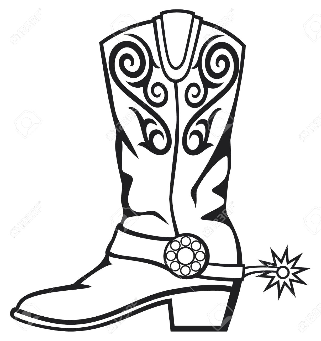 Cowboy boot clipart free 3 » Clipart Station.