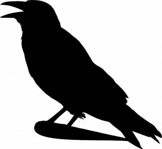Free Printable Crow Silhouettes.