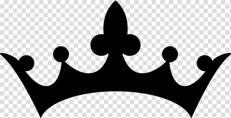 Black crown illustration, Silhouette Crown , tiara.