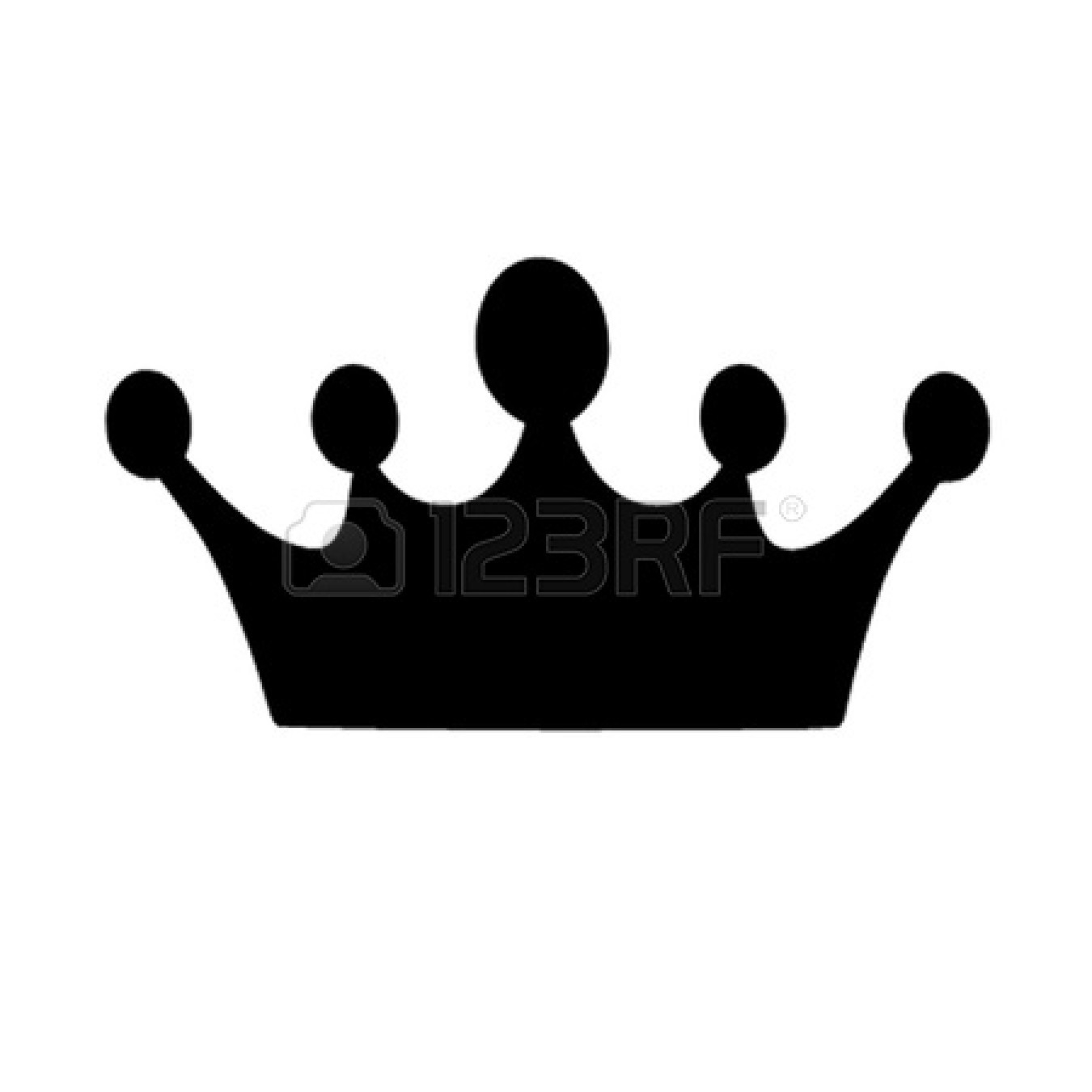 Black crown clipart Inspirational Crown black and white.