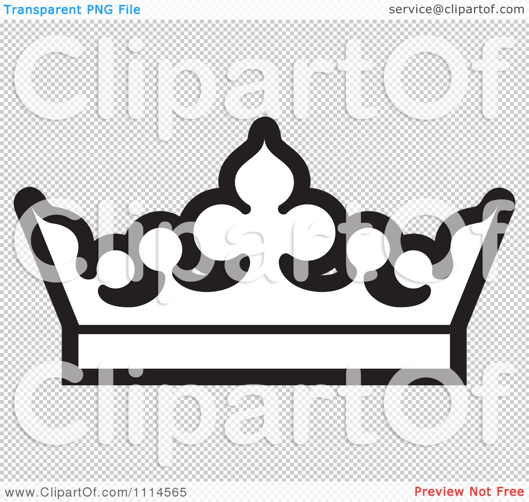 Clipart Black And White Crown.