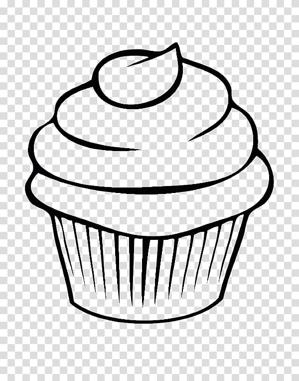 Cupcake illustration, Cupcake Drawing Line art Watercolor.