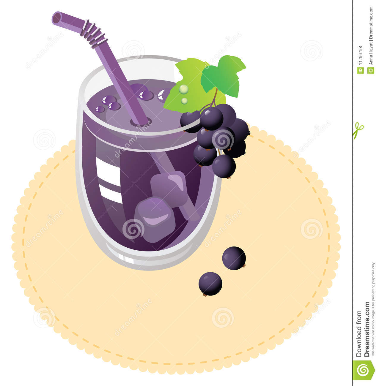 Blackcurrant Juice Stock Photo.