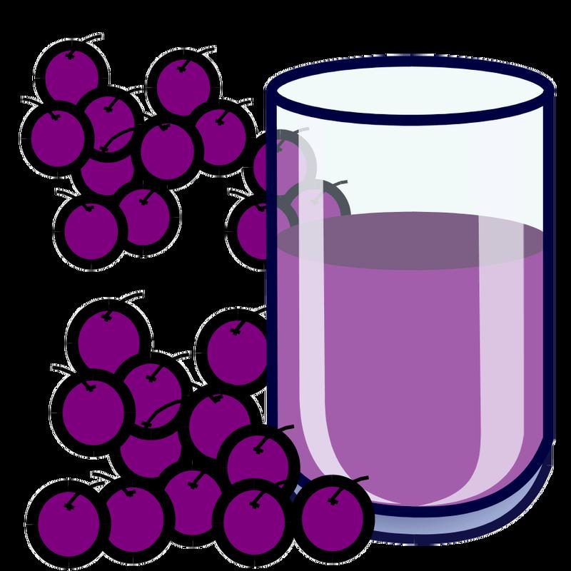 Grape juice clipart.