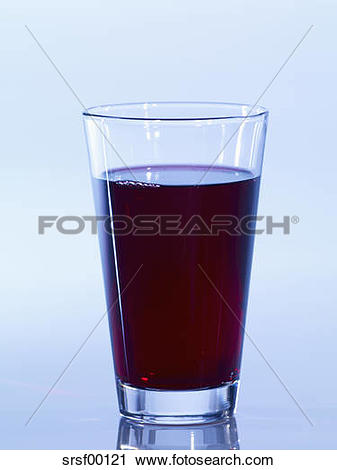 Stock Photography of Glass of black currant juice, close.
