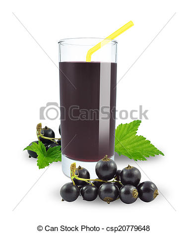 Stock Photo of fresh blackcurrant juice.