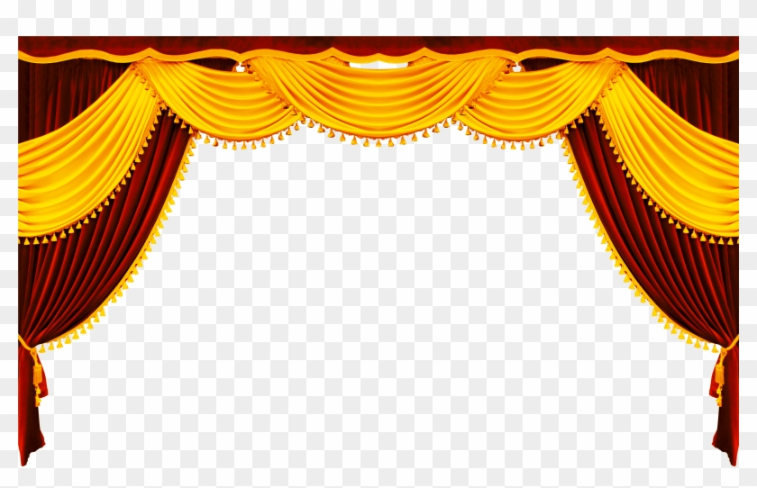 Picture Black And White Library Theatre Curtain Png.