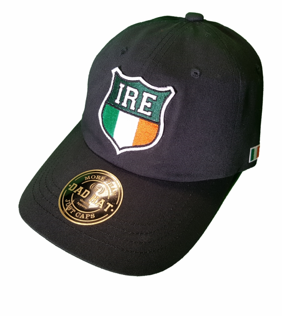 Irish Cap Shield Dad Hat Black Baseball Cap.