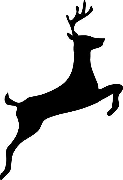 Black deer clip art cwemi images gallery.