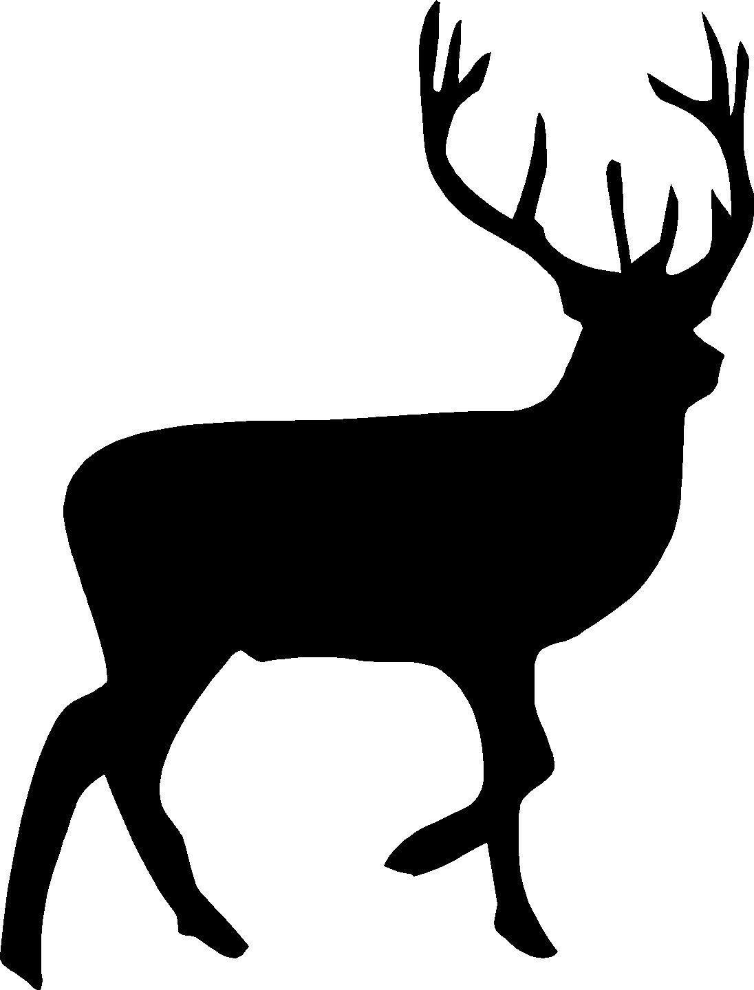 Baby Deer Clipart Black And White.