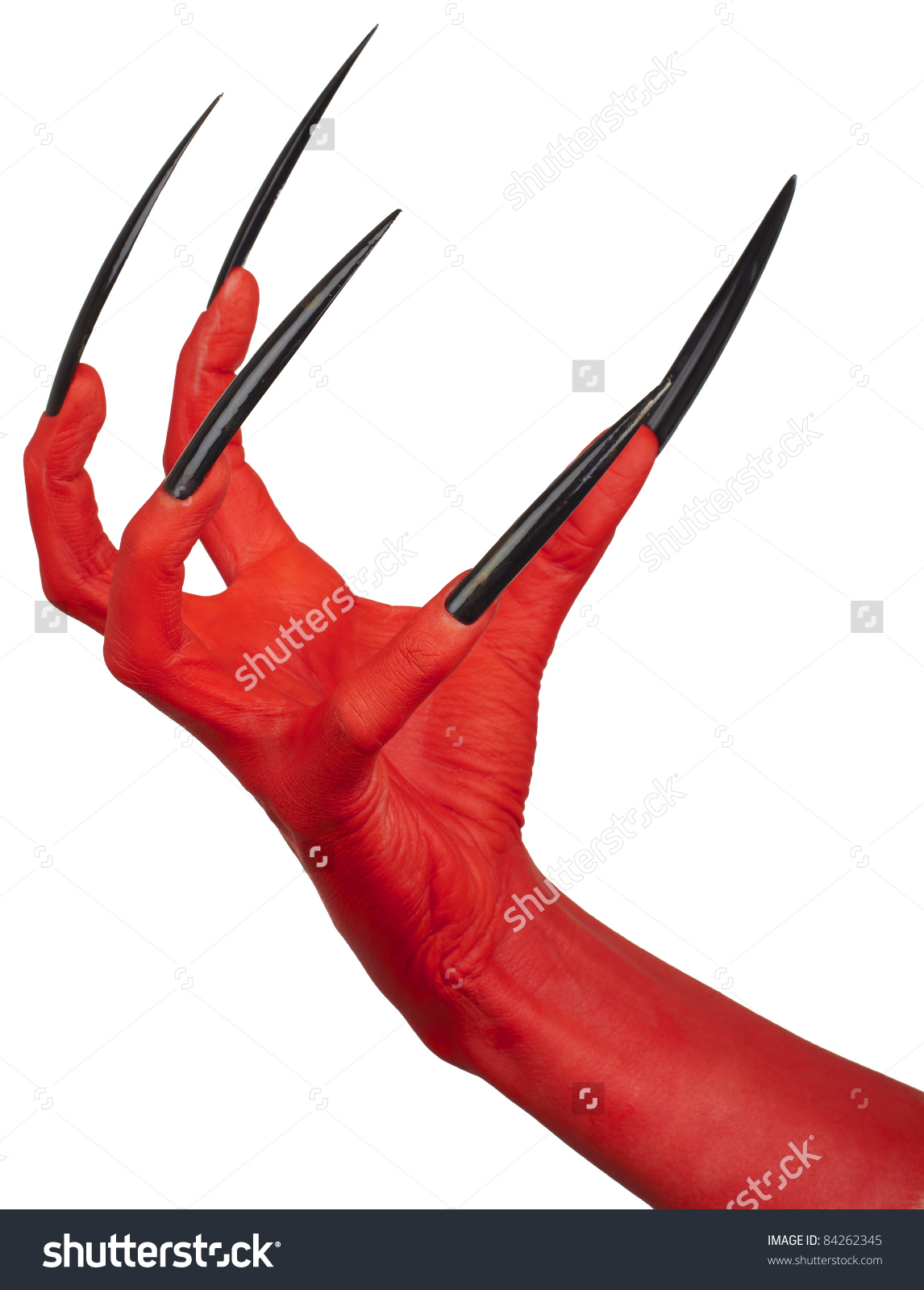 Devils Red Claw Very Long Nails Stock Photo 84262345.