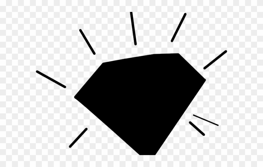 Diamond Clipart Black And White.