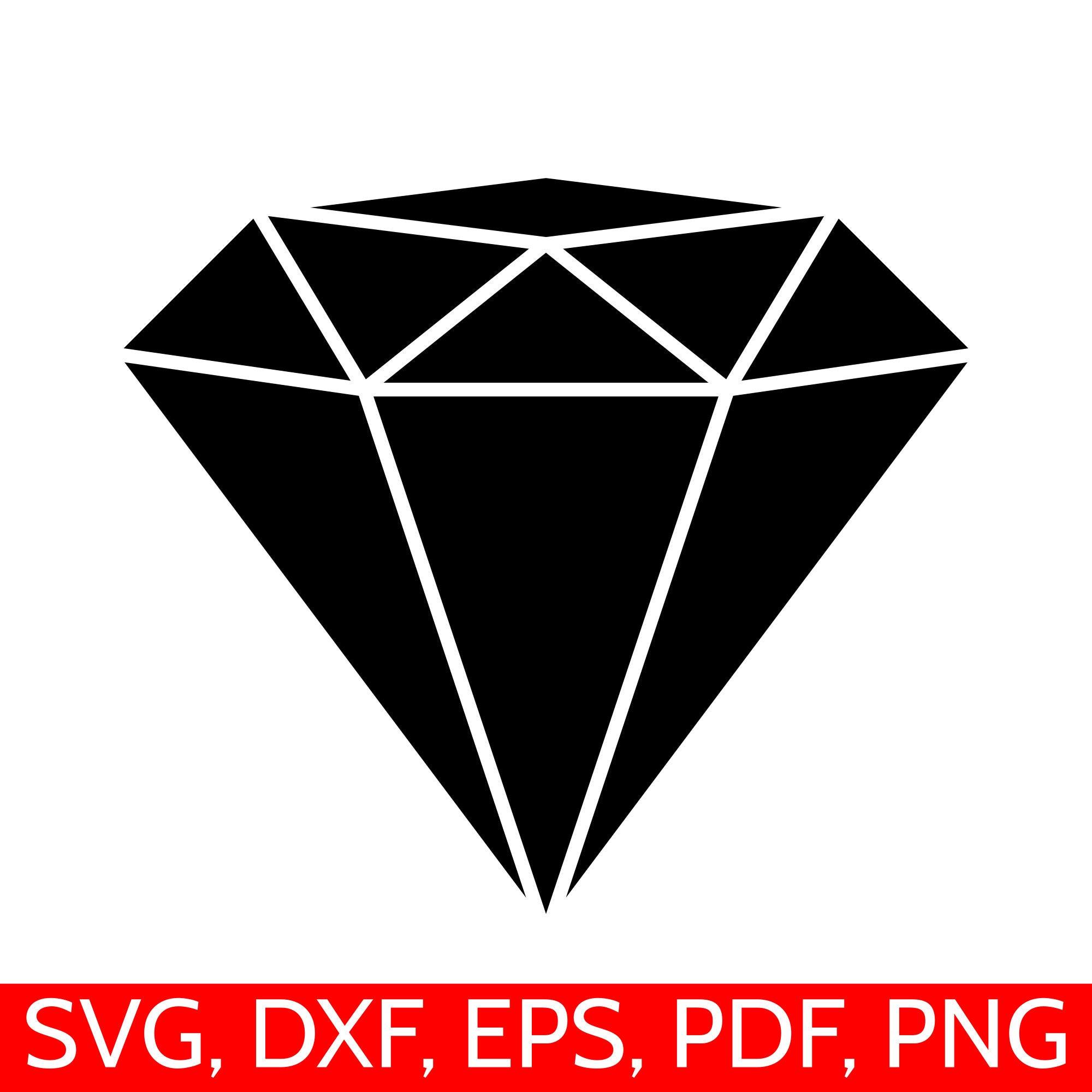 Diamond SVG file, black diamond silhouette.