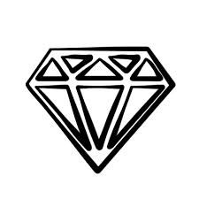 Image result for diamond clipart black and white.