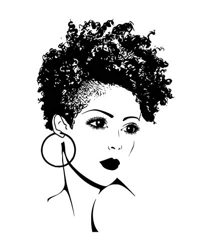 EvelynDavid Black Woman Stylish Princess Princess Queen Afro.