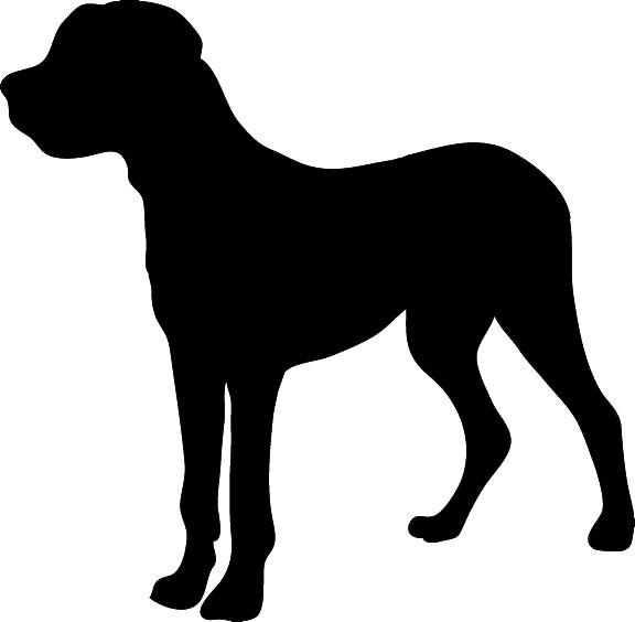 Black Dog Clipart.