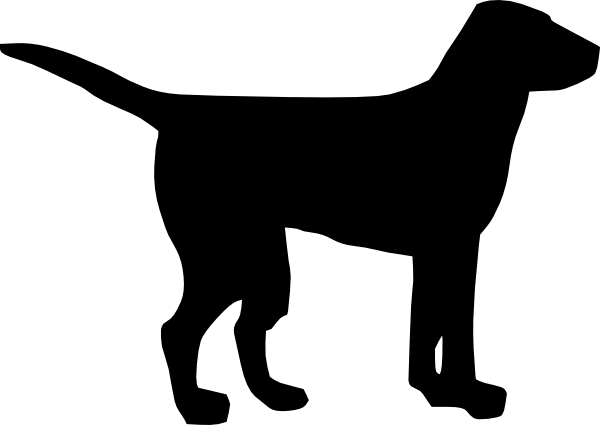 Black Dog Clipart.