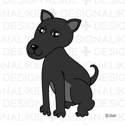 Black Dog|Pictures of clipart and graphic design and illustration.