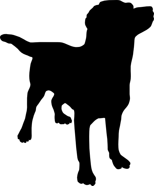 Black Dog Face Clipart.