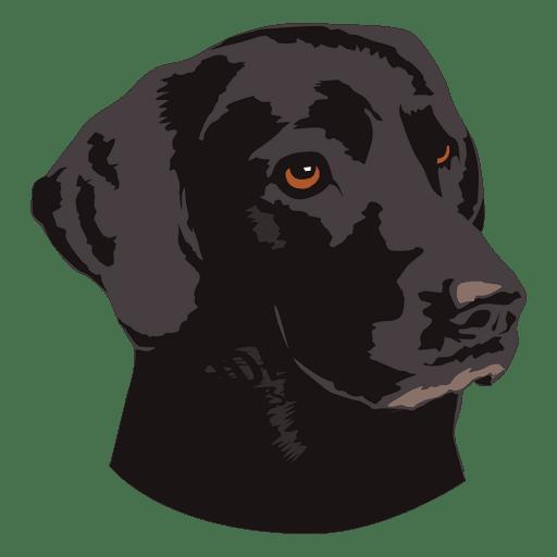 Black dog animal logo.