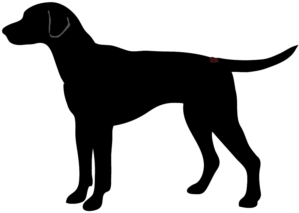 3369 Dog Silhouette free clipart.