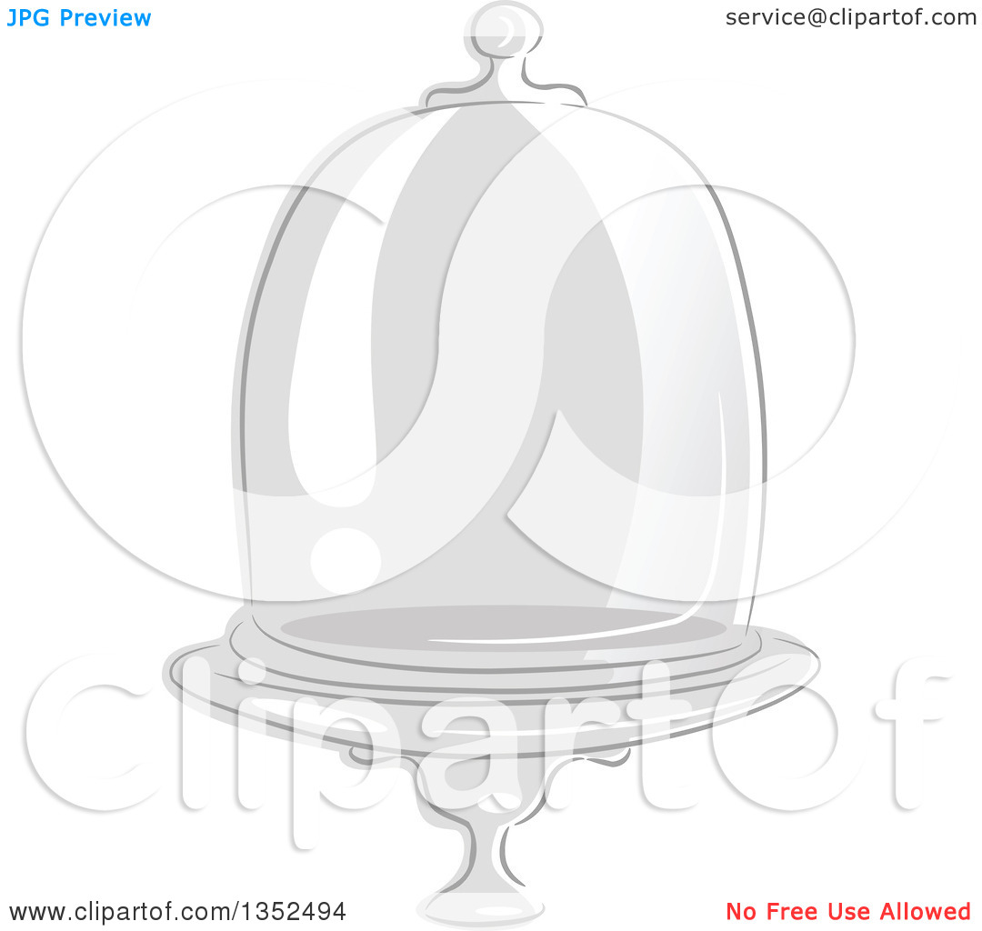 Clipart of a Sketched Glass Apothecary Jar Dome.