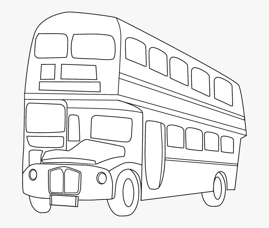 School Bus Black And White Double Decker Bus Clipart.