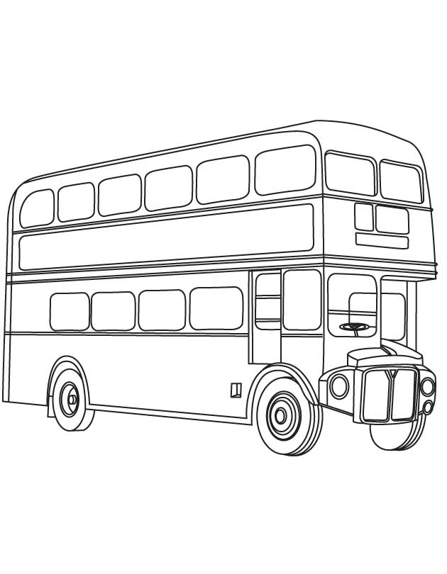 Double Decker Bus Clipart Black And White.