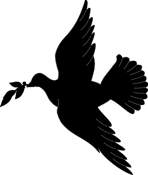 Dove Clip Art Black And White.