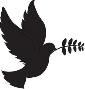 Black Dove Clipart.