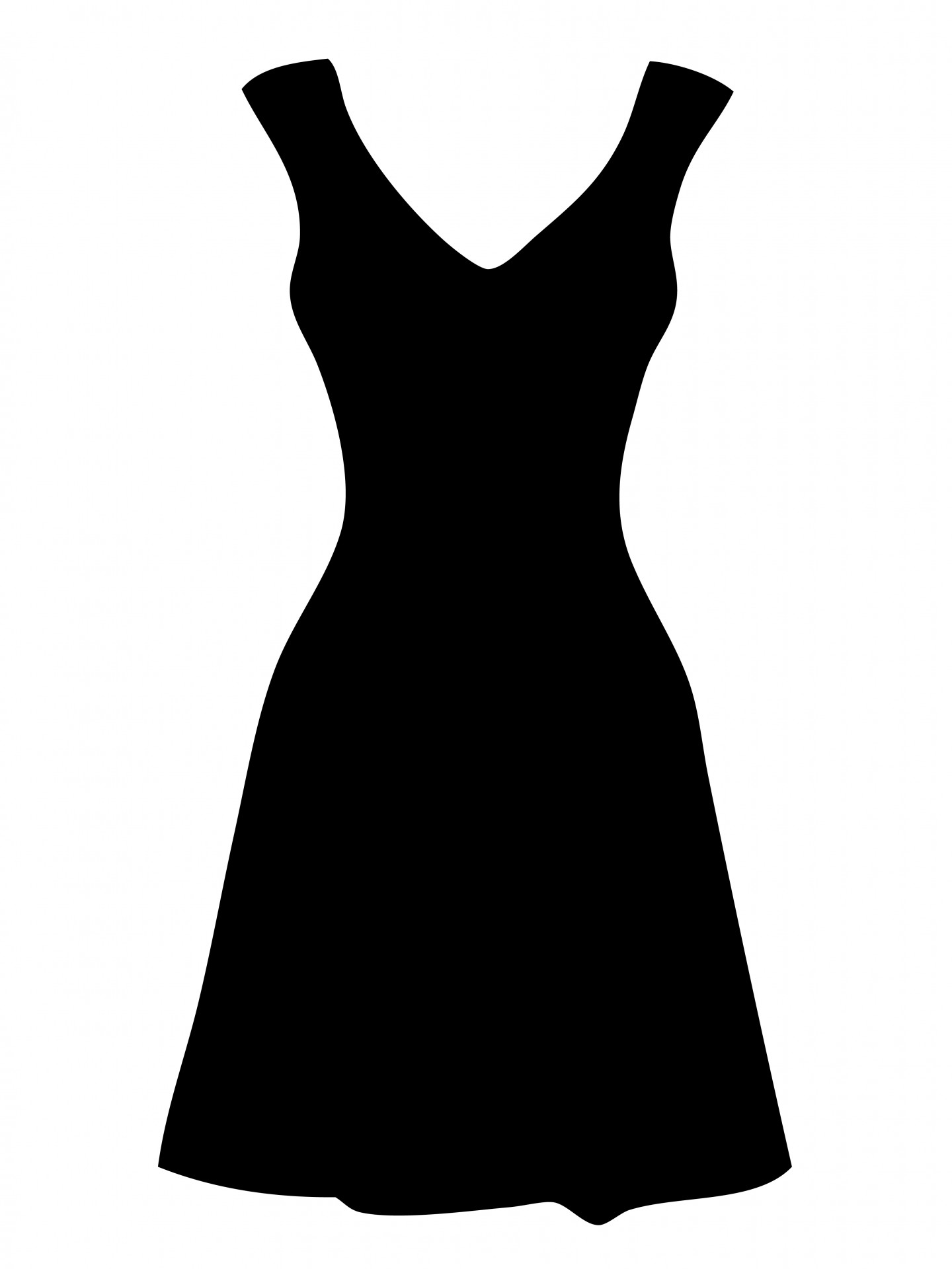 Dress with pearls clipart.