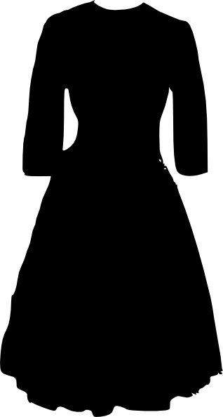 Black dress clip art.