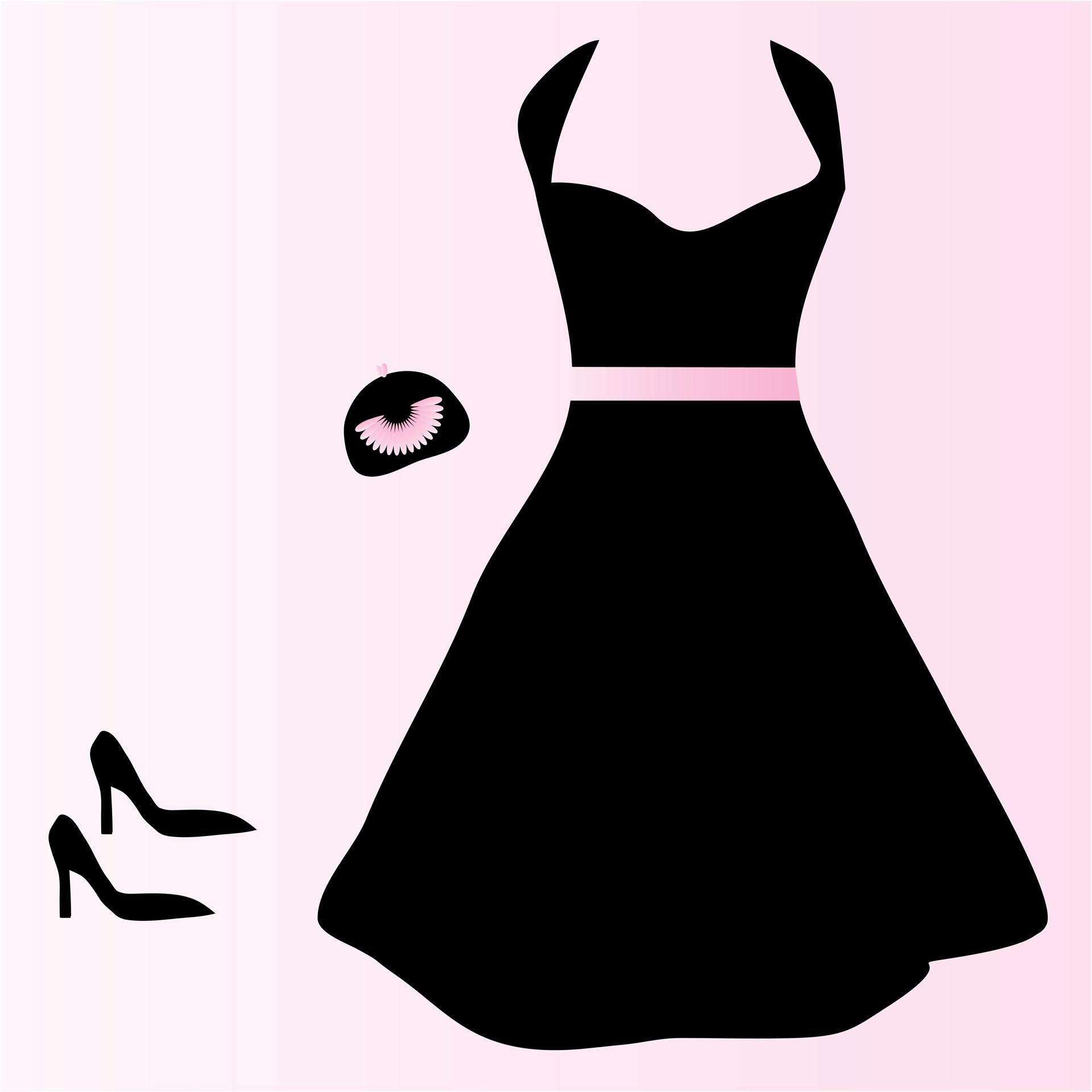 Black Dress Clip Art Images.
