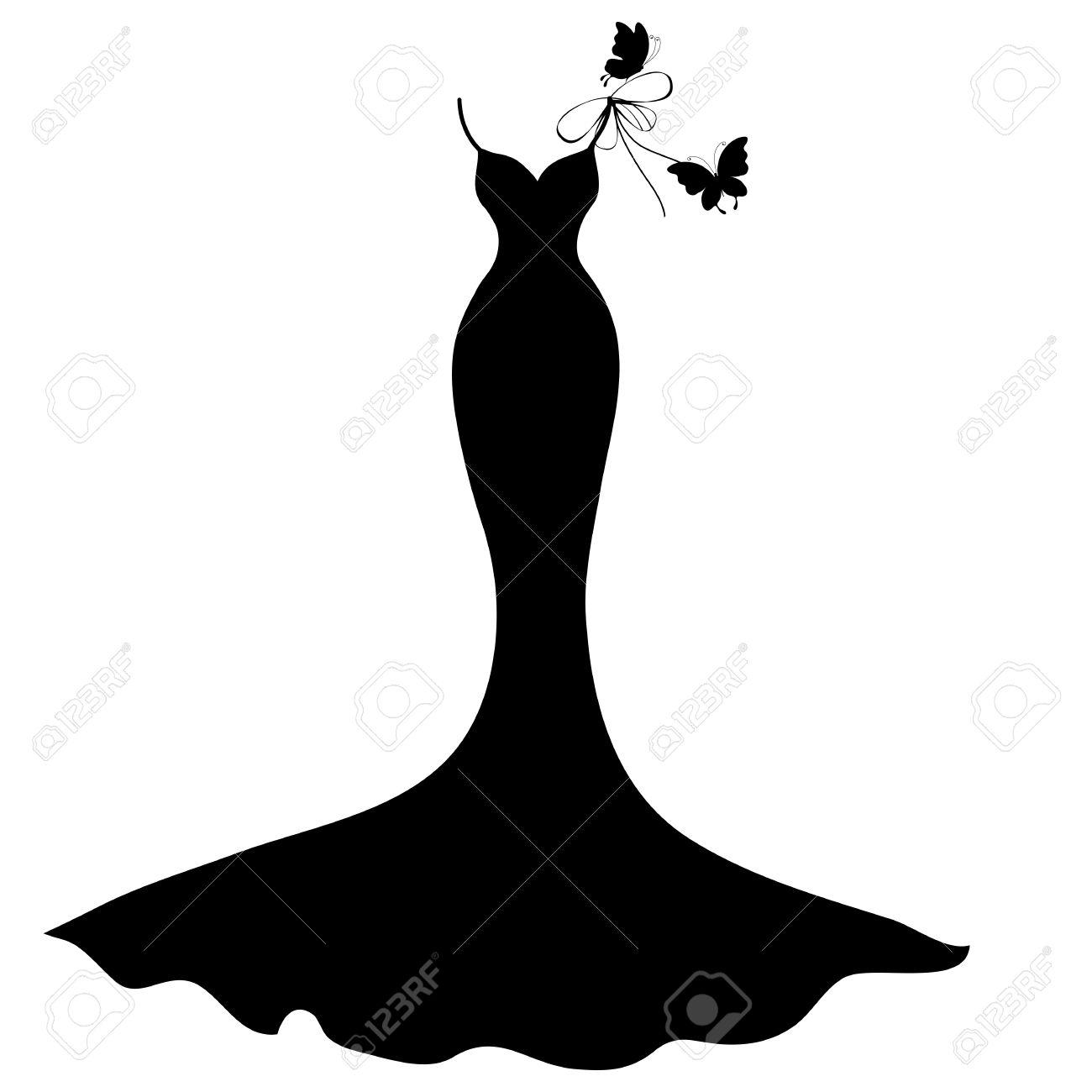 Black Dress Silhouette.