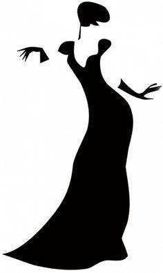 Dress Form Silhouette Clip Art.