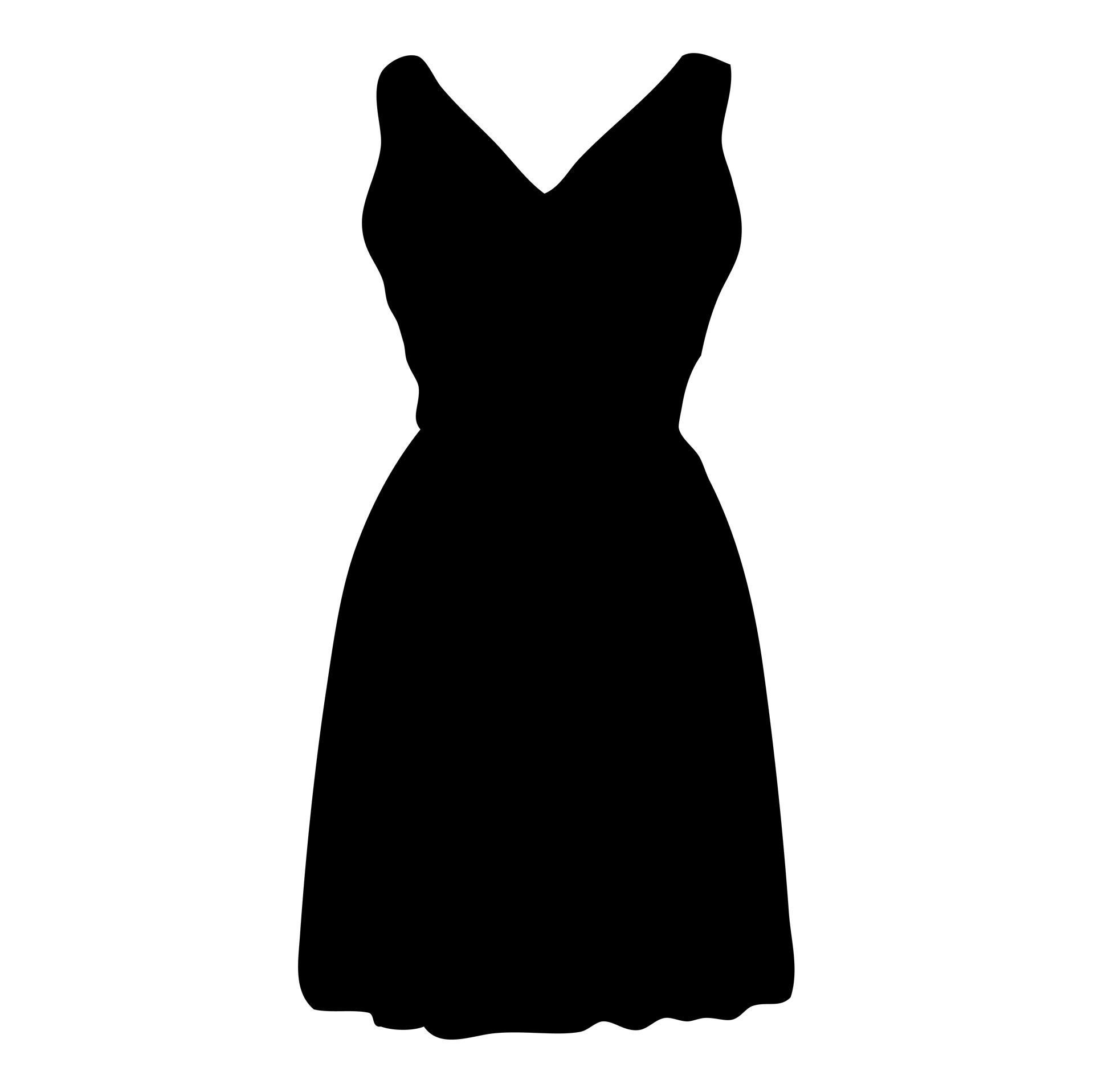 Dress,black,silhouette,clip.