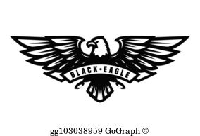 Black Eagle Clip Art.