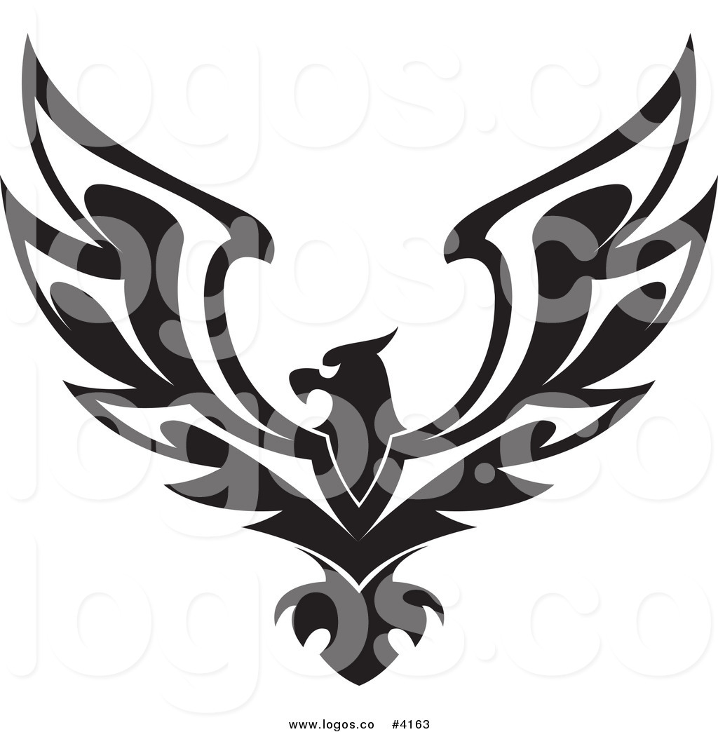 Royalty Free Black Eagle Logo by Vector Tradition SM.
