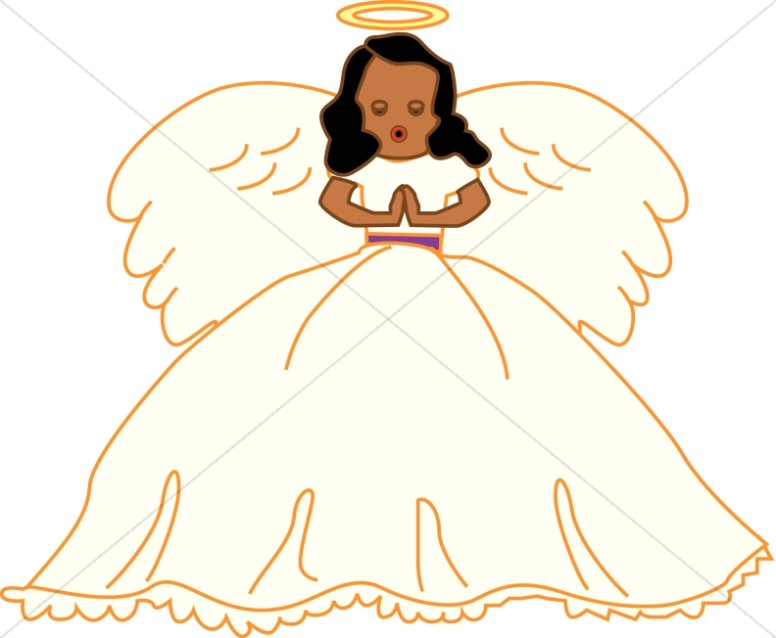 African american christmas angel clipart.