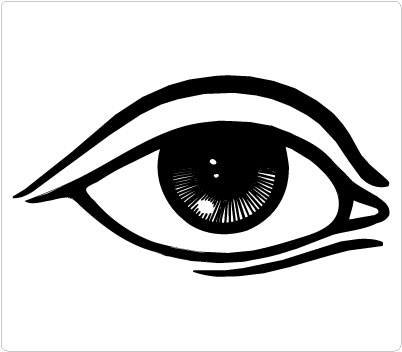 All black eyes clipart.