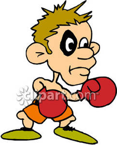 Boxer With Black Eye Clipart.