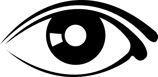 Eye Clip Art Black And White.
