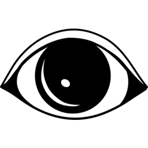 Simple Black Eye Logo Design Free Clip Art.