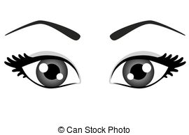 Blue eyes clipart black and white.