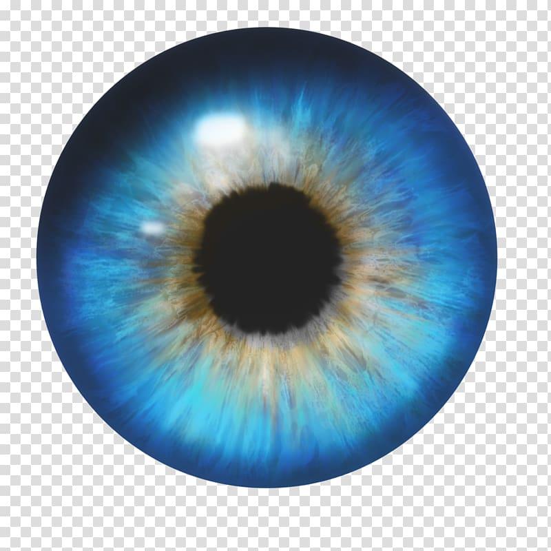 Blue and black eye illustration, Human eye, Eyes transparent.
