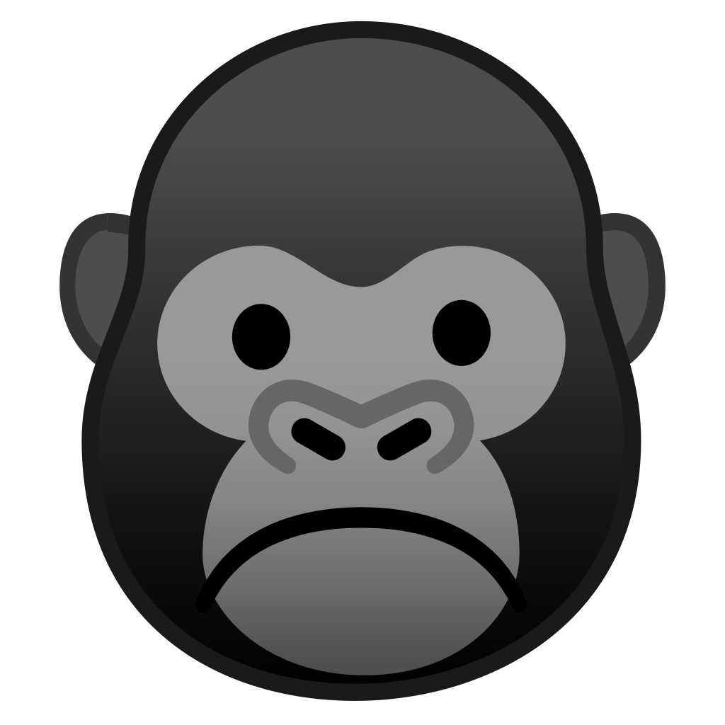 Gorilla Face Png Black And White & Free Gorilla Face Black And White.