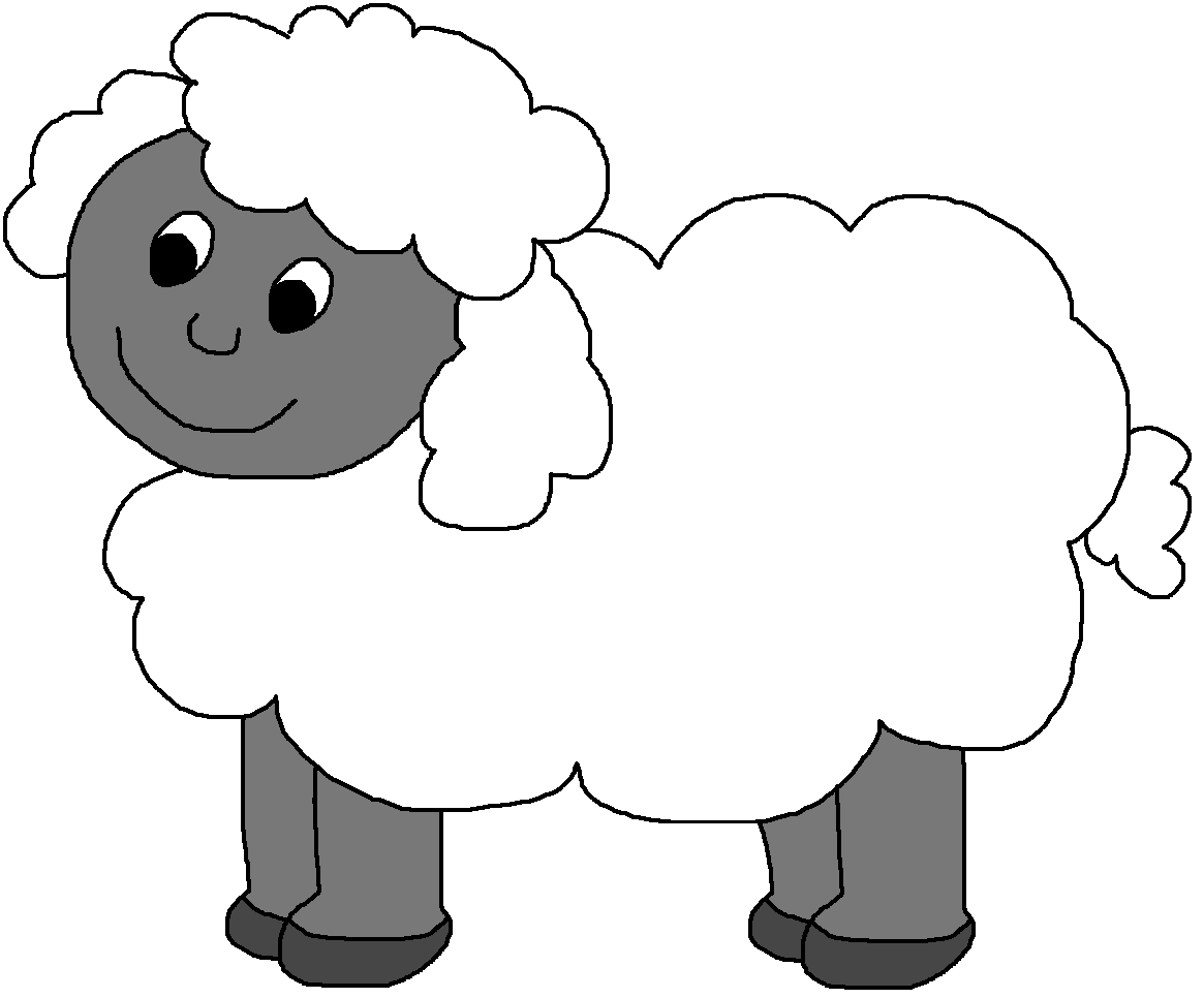 Black face sheep clipart.
