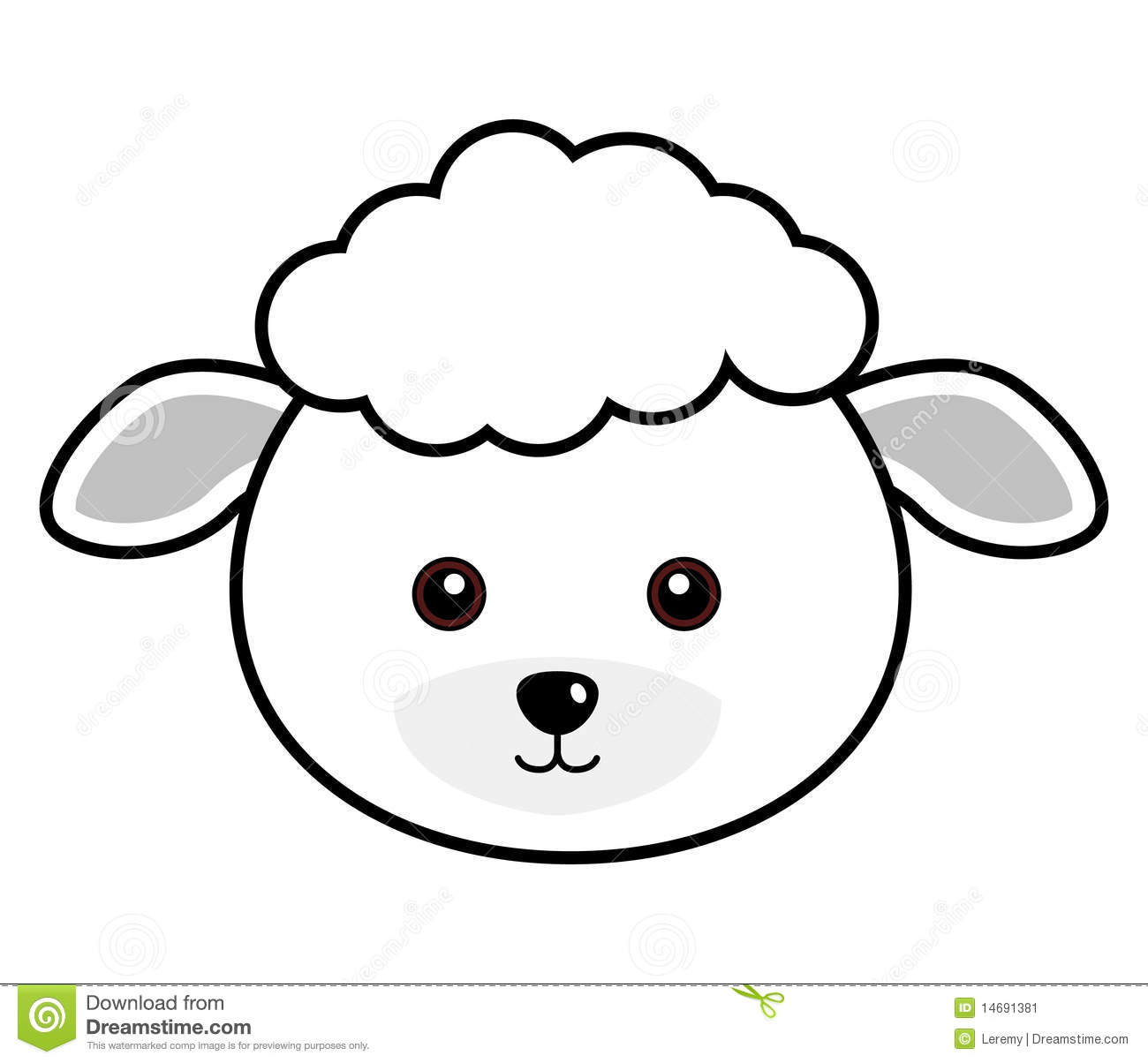 free sheep head coloring pages | Black face sheep clipart - Clipground